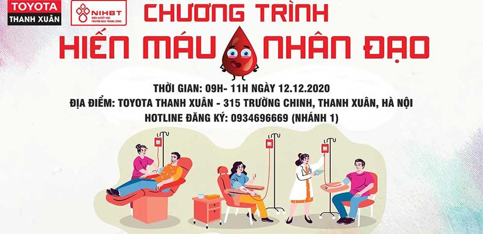 """Ngày hội hiến máu Toyota Thanh Xuân 2020:  """"Chia Sẻ Yêu Thương"""""""
