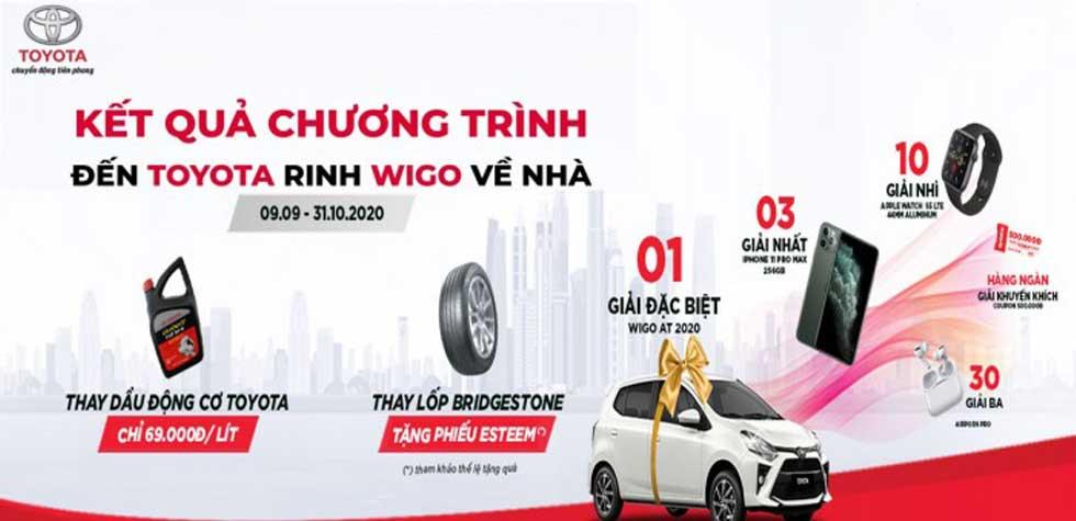"""Toyota Việt Nam công bố danh sách khách hàng trúng thưởng chương trình """"Đến Toyota, rinh Wigo về nhà"""""""