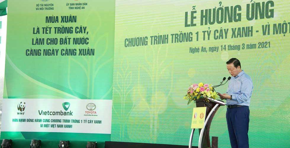Toyota cùng Bộ TN&MT phát động Tết trồng cây xuân Tân Sửu 2021